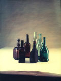 Still Life with Bottles of Various Forms and Colors Photographic Print by A. Villani