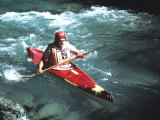Kayaker, During a Race, in a Mountain Stream Photographic Print by A. Villani