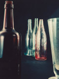 Glass Bottles Photographic Print by A. Villani