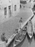 Boater in Comacchio Photographic Print by Vincenzo Balocchi