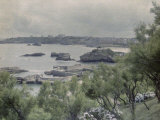 Port of Biarritz in France Photographic Print by Henrie Chouanard