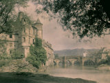 Panorama of Espalion, with the Old Bridge over the Lot River and the Castle Photographic Print by Henrie Chouanard