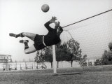 Goalkeeper Diving to Make a Save Photographic Print by A. Villani