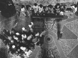 Group of Followers in a Church Photographic Print by Luciano Ferri