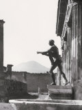Statue at the Temple of Apollo, in Pompeii Photographic Print by A. Villani