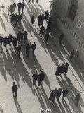 View from Above of a Street Crowded with Passersby Photographic Print by Vincenzo Balocchi