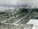 Garden Inside the Walls of the Oudaia Kasbah and a View of Rabat, Morocco Photographic Print by Henrie Chouanard