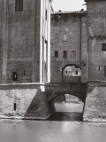 Close-up of the Estense Castle in Ferrara Photographic Print by A. Villani