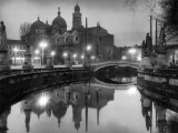 Night View of the Basilica of Sant'Antonio, also known as the Basilica Del Santo, in Padua Photographic Print by A. Villani