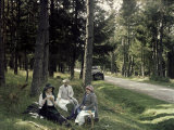 Picnic in the La Bourboule Valley Photographic Print by Henrie Chouanard
