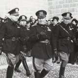 Mussolini at a Military Parade Photographic Print by A. Villani