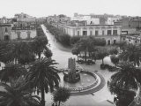 Fountain of Anchors in Piazza Cairoli in Brindisi Photographic Print by A. Villani