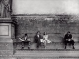Tourists in the Loggia Della Signoria in Florence Photographic Print by Vincenzo Balocchi