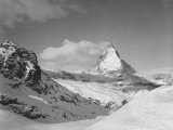 View of the Mountains and the Peak of the Matterhorn Fotografie-Druck von A. Villani