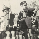 Italian Fascist Youth Movement Members Playing Musical Instruments Photographic Print by A. Villani