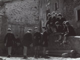 Group of Young Students Photographic Print by A. Villani