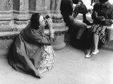 Woman Taking a Photograph Photographic Print by Vincenzo Balocchi