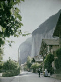 Lauterbrunnen, a Town in the Waterfall Valley in Switzerland Photographic Print by Henrie Chouanard