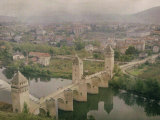 Valentre Bridge at Cahors, France Photographic Print by Henrie Chouanard