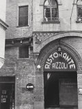 Restaurant Sign in Bologna Photographic Print by A. Villani