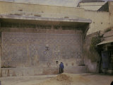 Walls with Mosaics in a Palace in Marocco Photographic Print by Henrie Chouanard