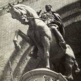 Equestrian Monument of Benito Mussolini Photographic Print by A. Villani