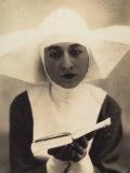 Nun Photographic Print by Vincenzo Balocchi