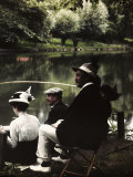 Group of Friends Fishing at Montigny Photographic Print by Henrie Chouanard
