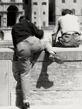 Two Young Fisherman on the Arno, Florence Photographic Print by Vincenzo Balocchi