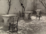 Small Marble Table and Chairs Photographic Print by Vincenzo Balocchi