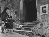 Women on a Village Street Photographic Print by Luciano Ferri