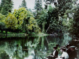 Fishing at Montigny Photographic Print by Henrie Chouanard