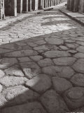 Cobbled Pavement of a Street in Pompei Photographic Print by A. Villani