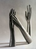 Wooden Sculptures of Women's Hands Photographic Print by Vincenzo Balocchi