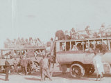 Passengers on a Truck in Casablanca Photographic Print by Henrie Chouanard