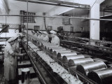 Workers Monitoring the Canning of Fruit in the Fruttabella Factory Photographic Print by A. Villani