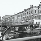 The Canal and a Stage in the Demolition of Verde Bridge in Trieste Photographic Print by Marion Wulz