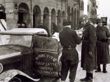 Bologna under German Military Occupation, Two German Soldiers and an Italian Driver Photographic Print by A. Villani