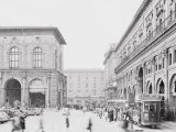 Means of Public Transportation Waiting on the Side of Piazza Maggiore in Bologna Photographic Print by A. Villani