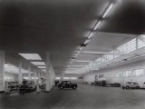 Inside of Fiat Factory in Bologna, Area for the Reception of Automobiles Photographic Print by A. Villani