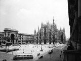 View of Piazza Duomo in Milan Photographic Print by A. Villani