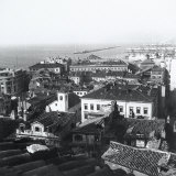 Houses and Breakwater Seen from S.Giusto Hill in Trieste Photographic Print by Marion Wulz