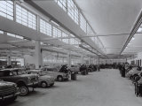 Inside of a Fiat Factory in Bologna with Some Employees at Work Photographic Print by A. Villani