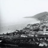 The Barcola Overpass and the Coast Up to Miramare in Trieste Photographic Print by Marion Wulz