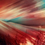 Beam of Colored Light, Directed across a Field of Grass Photographic Print by A. Villani