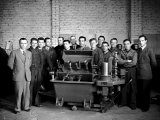 Group of Workers in the S.A.M.P. Workshop in Bologna Photographic Print by A. Villani