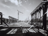 Beginning of Construction on a New Building, Ferrari Factory Photographic Print by A. Villani
