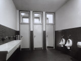 Bathroom in State Run Professional Institute for the Industrialist and Artisan Alfredo Ferrari Photographic Print by A. Villani