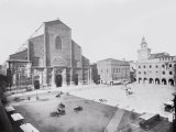 Piazza Maggiore and a View of the Church of San Petronio in Bologna Photographic Print by A. Villani