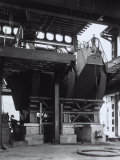 Inside Thomas Steel Plant with Workers Photographic Print by A. Villani